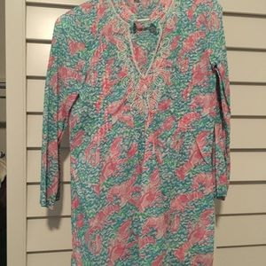Lilly Pulitzer beaded tunic/coverup